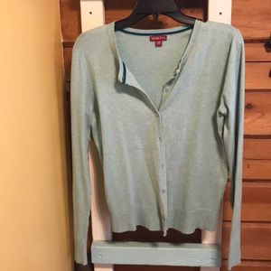Seafoam green cardigan